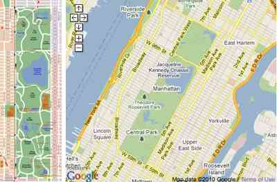 Central Park example image and map