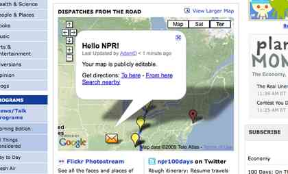 NPR's site with edited map