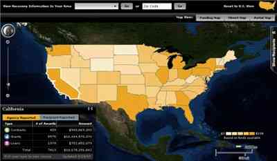Recovery.gov map of spending